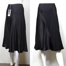 TWIGGY for M&S CLASSIC Satin Trim A-LINE SKIRT ~ Size 12 ~ BLACK