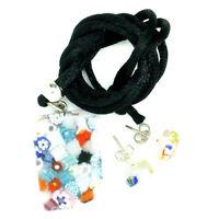 Murano Glass Pendant and Earrings Set Multi-Coloured Venice Rectangular