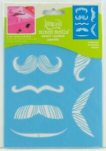 "DecoArt Americana Painting Stencil Laser Cut 6""x8"" Mustaches ASMM25"