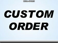 CUSTOM ORDER Stickers Decals Bicycles Bikes Cycles Frames Forks Mountain BMX MTB