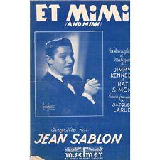 ET MIMI and Mimi Créé par JEAN SABLON Paroles et Musique JIMMY KENNEDY et LARUE