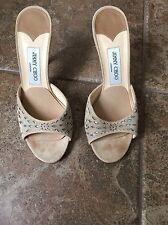 jimmy choo Women's Tan Gold shoes Sandals sze 38