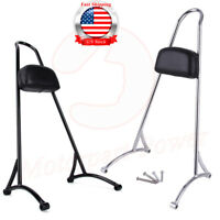 Passenger Backrest Pad Sissy Bar Cushion For Harley Sportster XL 883 1200 04-16
