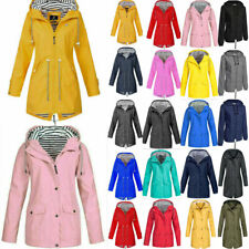 UK Womens Waterproof Raincoat Ladies Outdoor Wind Rain Forest Jackets Mac Coats