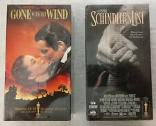VHS lot Brand New Sealed Schindler's List, and Gone With The Wind
