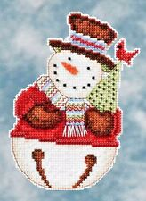 Mill Hill Debbie Mumm Beads Cross Stitch Kit ~ FRANK Snowbells #20-4105 Sale