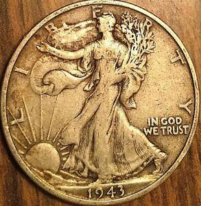 1943-S USA SILVER 50 CENTS HALF DOLLAR COIN