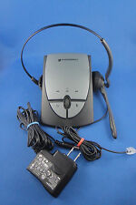 Plantronics S12 Grey Corded Office Headset System - Great condition -Works Ex