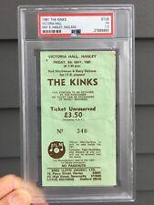 1981 Kinks Concert Ticket Victoria Hall Hanley England PSA