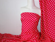 Ruby/white Polka-dot Lycra/Spandex 4 way stretch Matt Finish Fabric