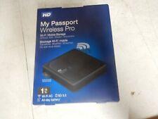 WD 1TB My Passport Wireless Pro Portable External Hard Drive WiFi AC SD USB R681