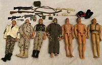 "Lot Of 7 Pawtucket GI JOE 12"" 1/6 Scale  Action Figures 1996 Hasbro"