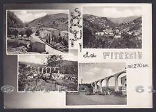 PISTOIA CITTÀ 47 Frazione PITECCIO - SALUTI da... VEDUTINE Cartolina FOTOGRAFICA