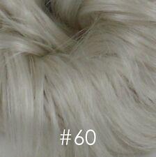 Short Brown/Gray Wavy Wigs for Men Black//White