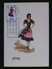 SPAIN MK 1967 TRAJES CADIZ TRACHT COSTUME MAXIMUMKARTE MAXIMUM CARD MC CM c6085