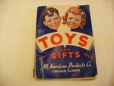 """Vintage Toys & Gifts Catalog """"All American Products"""" 1941"""