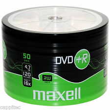 50 MAXELL DVD+R 4.7GB 16x MAX MATT GOLD TOP BLANK DISCS, MBIPG101 R05 DYE