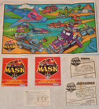 Kenner M.A.S.K. Catalog Inserts Posters Jackhammer & Raven Comics 1019!!!