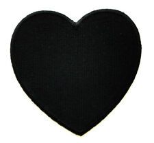 Cute Pretty Black Heart Love Embroidered Iron on Patch Free Postage