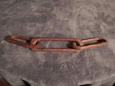 Antique Prison Folk Art, 3 Link Chain of one piece of wood