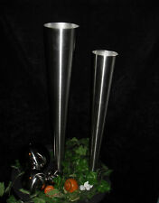 Pflanzgefäß aus Edelstahl 80 cm hoch