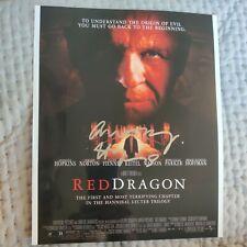 More details for anthony hopkins red dragon genuine original signed autograph & coa 8 x 4