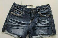 Charlotte Russe  Juniors Size 2 Denim Blue Jean Shorts Cut Off Short Shorts