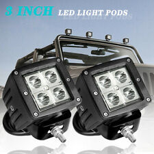 2x 3inch Cree Led Cube Pods Work Light Bar Spot Beam Driving Fog Offroad Atv Utv