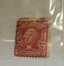 1903 scott  #319 2 CENTS UNITED STATES POSTAGE STAMP WASHINGTON  CARMINE pm 1904