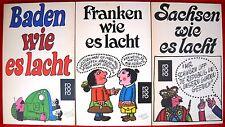 5 x Humor - deutscher Länder im Paket Sammlung - Sachsen, Schleswig-Holstein