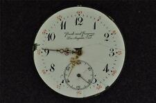 VINTAGE 12 SIZE PRIVATE LABEL SWISS OPENFACE POCKET WATCH MOVEMENT - RUNNING