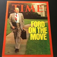 VTG Time Magazine August 26 1974 - President Gerald Ford On The Move / Newsstand