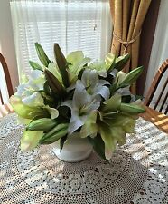 Lily Large Flower Designer Floral Arrangement White Green Center piece Wedding