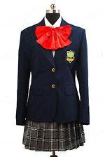 Kill Bill Gogo Yubari Navy Blue Uniform Cosplay Costume High Quality Red Bowtie