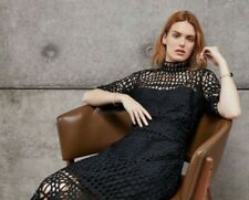 Country Road Sz 8 Lace A-line Dress in Black