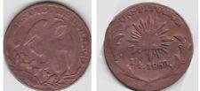 """Pièce de Durango """" Mexique """" 1/4 1858"""