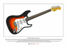 Bob Dylan's Newport Stratocaster Limited Edition Fine Art Print A3 size