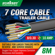 8M X 7 Core Wire Cable Trailer Cable Automotive Boat Caravan Truck Coil V90 PVC
