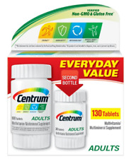 CENTRUM ADULTS MULTIVITAMIN/MULTIMINERAL SUPPLEMENT - 130 TABLETS EXP 2021 +