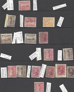 16 HAWAII STAMPS VERIOUS CANCELS EX COUGHLIN
