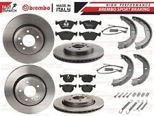 BMW E46 330CI 330I 330D FRONT REAR COATED BREMBO BRAKE DISCS PADS SHOES SENSORS