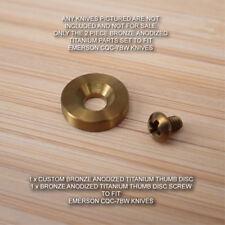 Emerson CQC-7BW CQC-7 Custom 2pc BRONZE Anodized Titanium Thumb Disc & Screw Set
