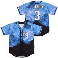 Singer Illenium #3 Baseball Jerseys All Stitched Diamond Fashion Jerseys Hip Hop
