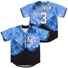 Singer Illenium #3 Baseball Jerseys Diamond Fashion Jerseys Hip Hop