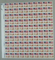1981 Flag USA Postage stamp 18 cent for amber waves of grain sheet of 100
