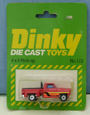 Dinky Toys (Airfix ownership) No. 113  4 x 4 Pick-up Truck.  Mint. Packaged
