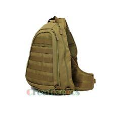 Men Military Tactical Travel Hiking Messenger Shoulder Back pack Sling Chest Bag