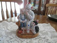 "Artist Norman Rockwell Porcelain Figurine ""The Runaway"" Clown/Boy/Dog - retired"