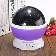 Rotating Romantic LED Starry Night Sky Projector Lamp Baby Kids Gift Star Light