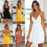 Beach Dress sundress Long Party Women V Neck Casual Loose Maxi Womens Fashion